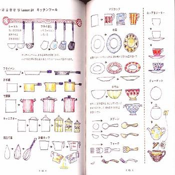 Out of print / illustrations with ball point pens - Japanese book -  Illustrations with Ball Point