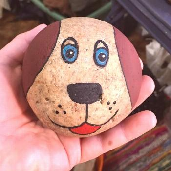 Painted Rock Dog I think this would work well with paint pens   Best Picture For  Rock Art outdoor