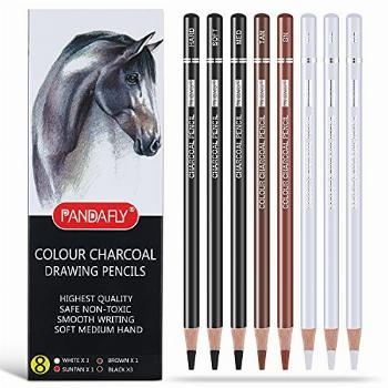 PANDAFLY Professional Colour Charcoal Pencils Drawing Set, 8