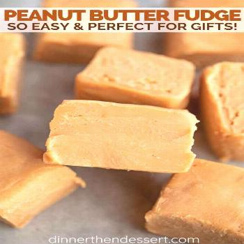 Peanut Butter Fudge - Dinner, then Dessert Peanut Butter Fudge is a smooth, buttery and rich old-fa