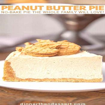Peanut Butter Pie is an easy no-bake pie with nutter butter crust and fluffy whipped peanut butter