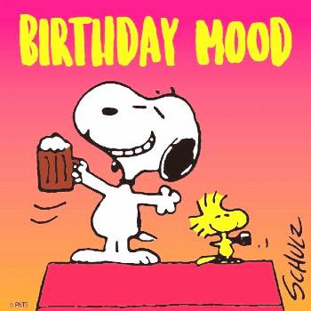 Peanuts by Charles Schulz for Aug 10, 1968, Snoopy's birthday ♥ Peanuts by Charles Schulz fo