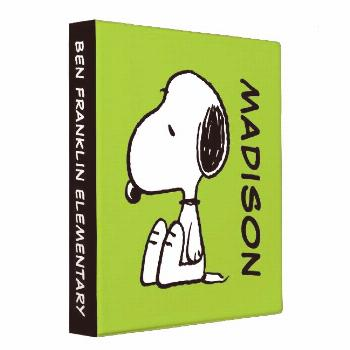 Peanuts | Snoopy Looking Down 3 Ring Binder Affiliate
