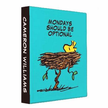 Peanuts   Woodstock Napping 3 Ring Binder Affiliate