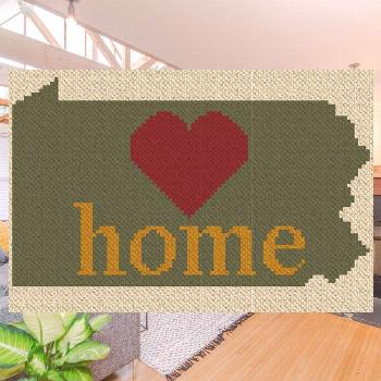 Pennsylvania Home C2C Afghan Crochet Pattern | Blue Frog Creek Crochet your Pennsylvania Home Afgha