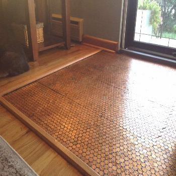 Penny Floor Template, Penny Template, DIY Penny Floor, penny floor, penny project, floor of pennies