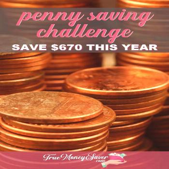 Penny Saving Challenge - Save $670 This Year Collecting Pennies#challenge