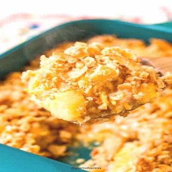 Pineapple Casserole {Ready in 30 mins!} - Spend With Pennies - -