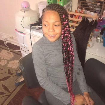 Pink lemonade.   lemonade Braids with individuals lemonade Braids with individuals lemonade Braids