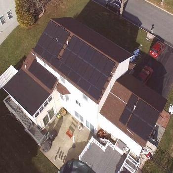 Pinnacle Exteriors installed new shingle and flat roofs, as well as solar panels, and hooked them u