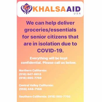 possible text that says KHALSAA USA We can help deliver groceriesYou can find Pennsylvania and more