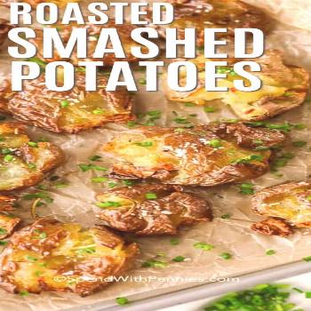 Roasted Smashed Potatoes {Easy & Tasty Side} - Spend With Pennies -  Smashed potatoes in oven are a