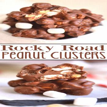 Rocky Road Peanut Clusters are made in the microwave and use only FIVE ingredients. A simple, delic