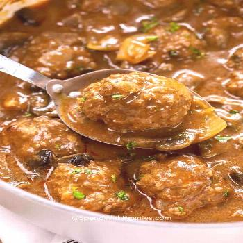 Salisbury Steak Meatballs - Spend With Pennies -  Salisbury Steak Meatballs – Spend With Pennies