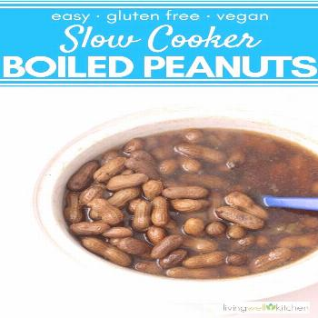 Slow Cooker Boiled Peanuts [Easy, Vegan, Gluten free, Crockpot] How to make boiled peanuts in the c