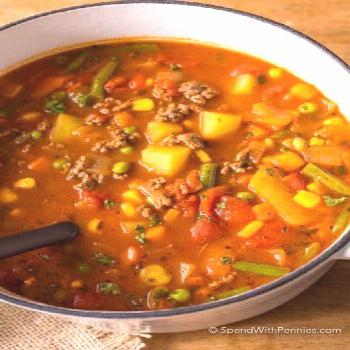 Slow Cooker Vegetable Beef Soup {Or Stovetop!} - Spend With Pennies ,  Slow Cooker Vegetable Beef S
