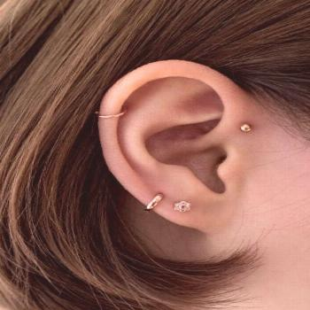 Small cartilage huggie hoop earrings 5mm 6mm -  Small cartilage huggie hoop earrings 5mm 6mm  -