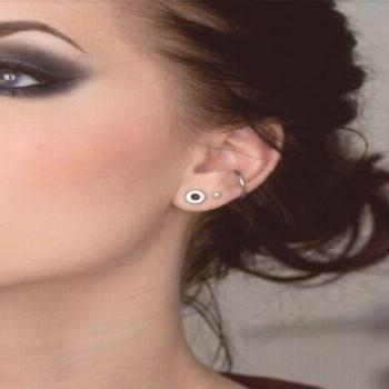 Small gauged lobes. This girl has the exact same piercings as me!,  -  Small gauged lobes. This gir