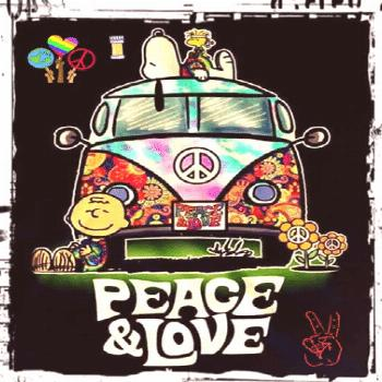 Snoopy & Peanuts Gang:  Peace & Love GIF Snoopy & Peanuts Gang:  Peace & Love via GIPHY  VW bus, ps