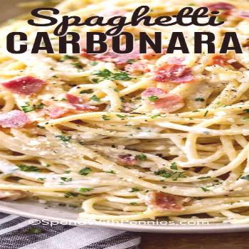 Spaghetti Carbonara - Spend With Pennies -  This easy authentic spaghetti carbonara recipe is one o