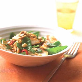 Spicy Chicken Stir-Fry with Peanuts -