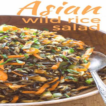Step out of your potluck side dish routine with this Asian Wild Rice Salad with Ginger Soy Dressing