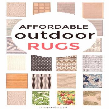 The Most Affordable Outdoor Patio Rugs | Posh Pennies  If you're looking for an affordable rug fo