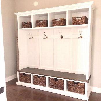 THE PENNSYLVANIA 4 section bench with storage,  THE PENNSYLVANIA 4 section bench with storage,
