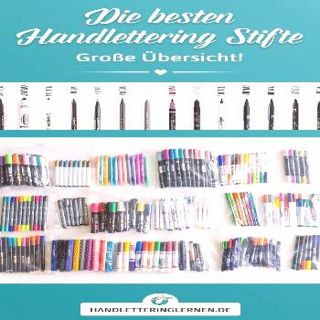 There are countless great hand lettering pens! In my huge overview you will find the (in my opinion