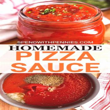 This homemade pizza sauce is quick and easy to prepare and is perfect for freezing. Not just for pi