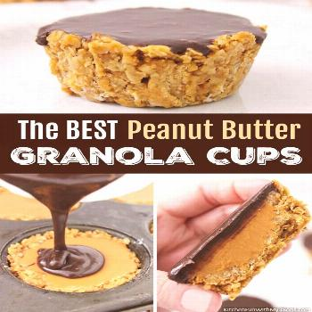 This recipe for Peanut Butter Granola Cups is the perfect breakfast lunch or snack idea. Not only a