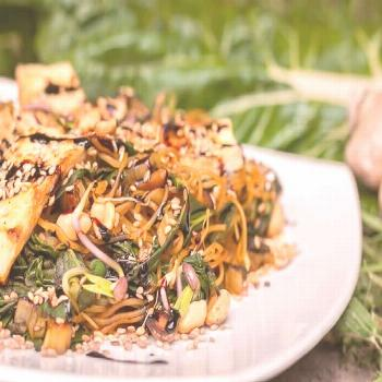 Vegan chard recipe with rice noodles & peanuts simple & healthy ... Vegan chard recipe with rice no