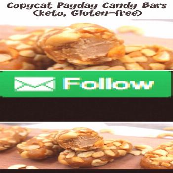 With only a handful of ingredients, you can make homemade payday candy bars at home. Keto, gluten-f