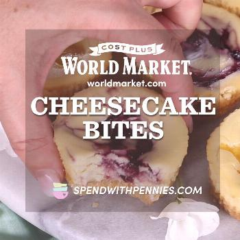 You had us at cheesecake. Cost Plus World Market teamed up with Spend With Pennies, who cleverly ma