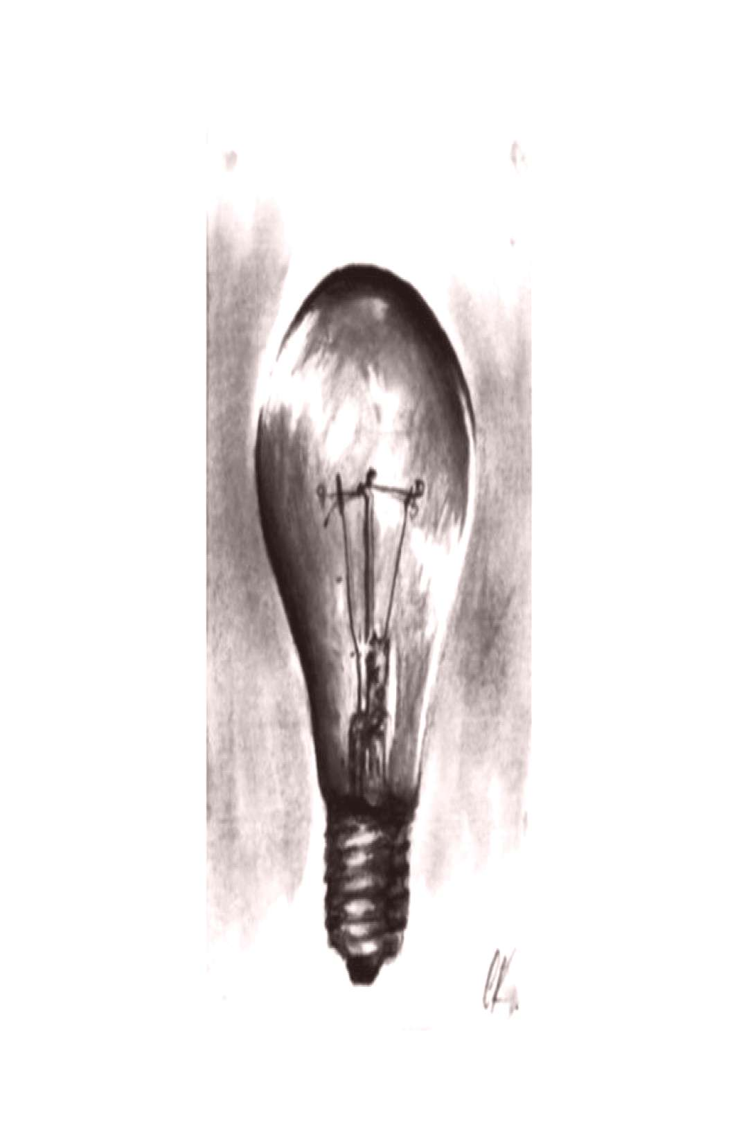 4H-6B graphite on paper • Bulb •