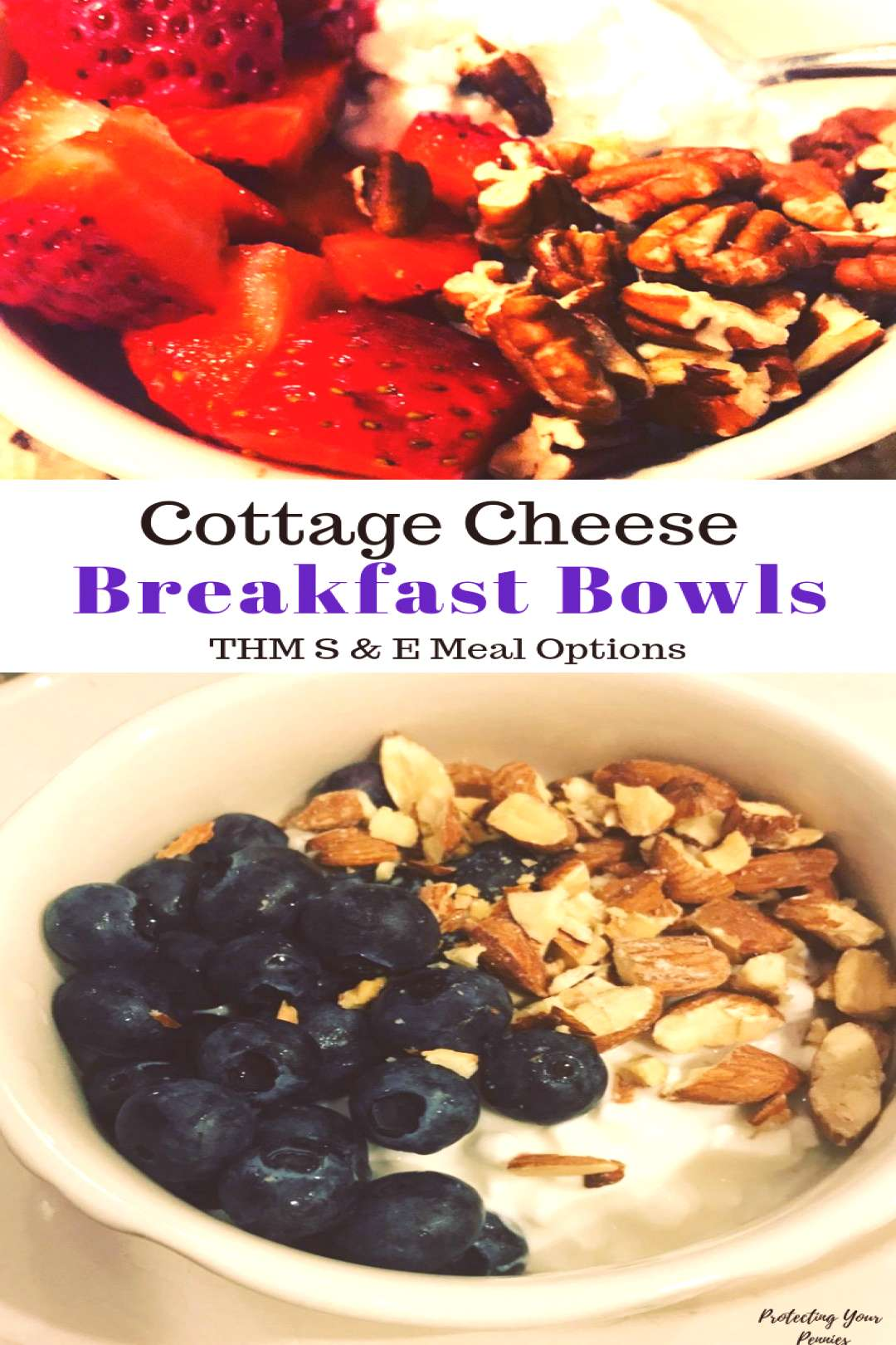 5 THM Cottage Cheese Breakfast Bowls - Protecting Your Pennies - 5 THM Cottage Cheese Breakfast Bow