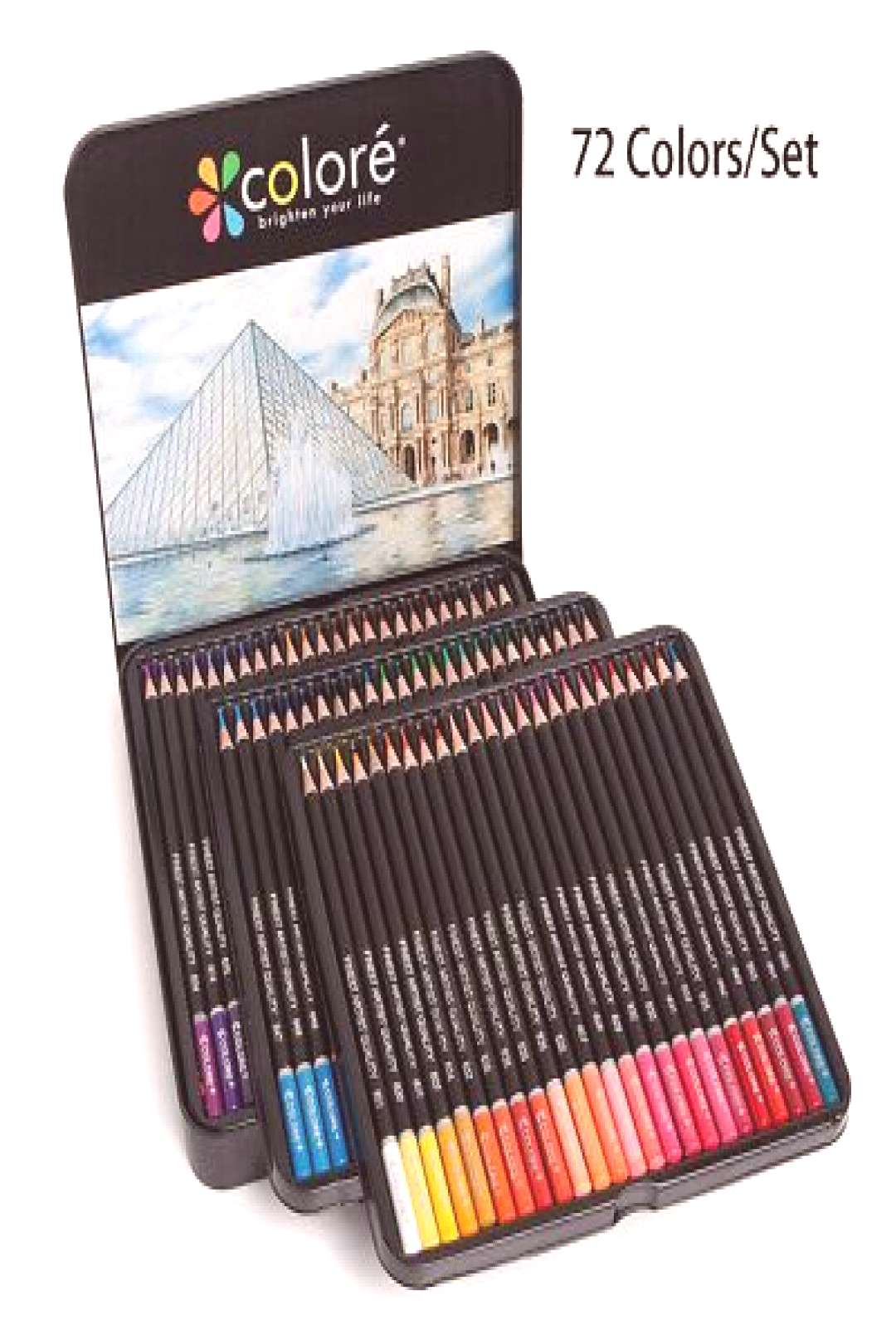 72 Colors Colored Drawing Pens Coloring Pencils Art Supply Drawing Office Crafts