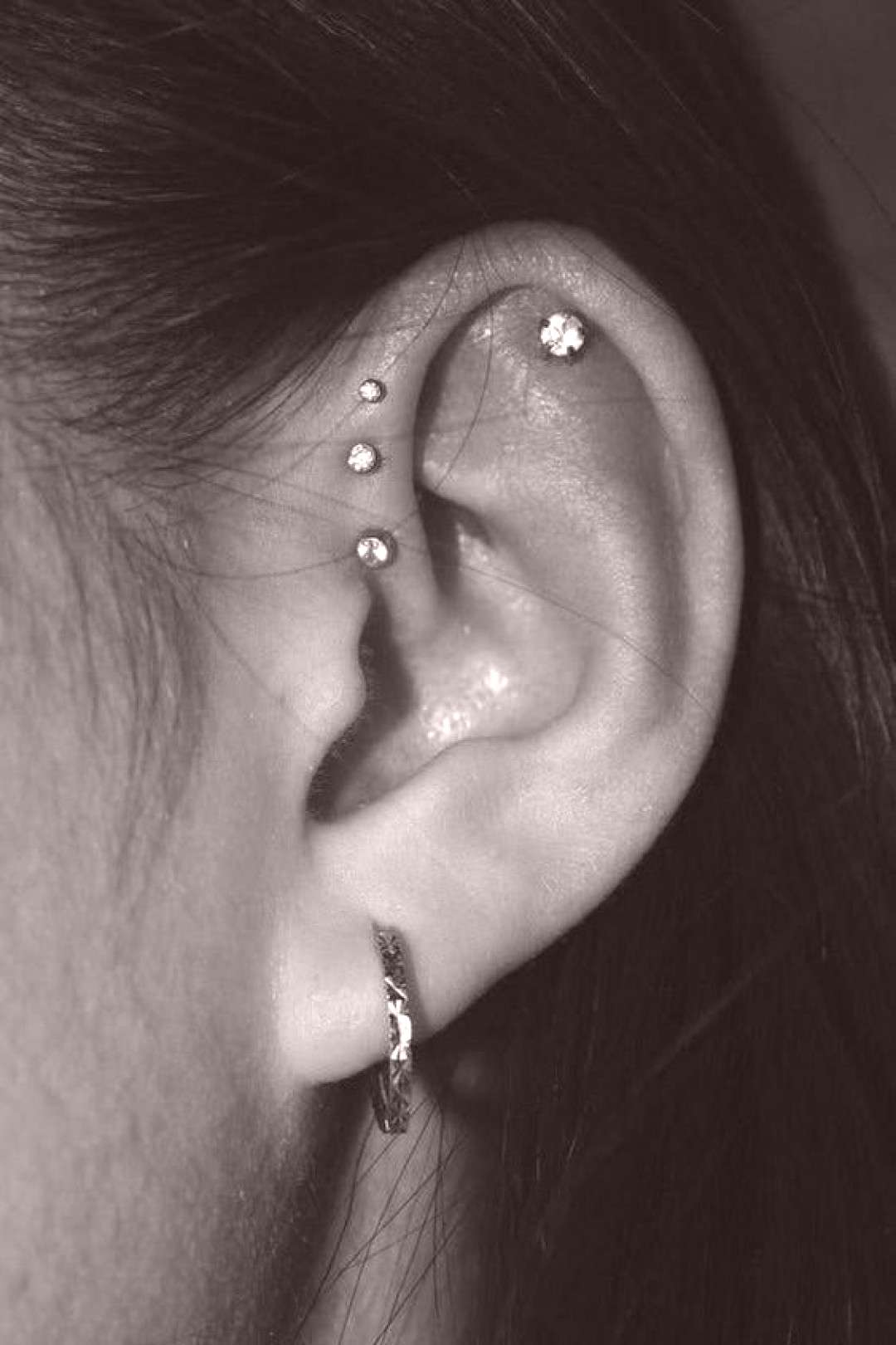 77 Ear piercing ideas for Women. Cute and Beautiful Ear piercing Ideas.