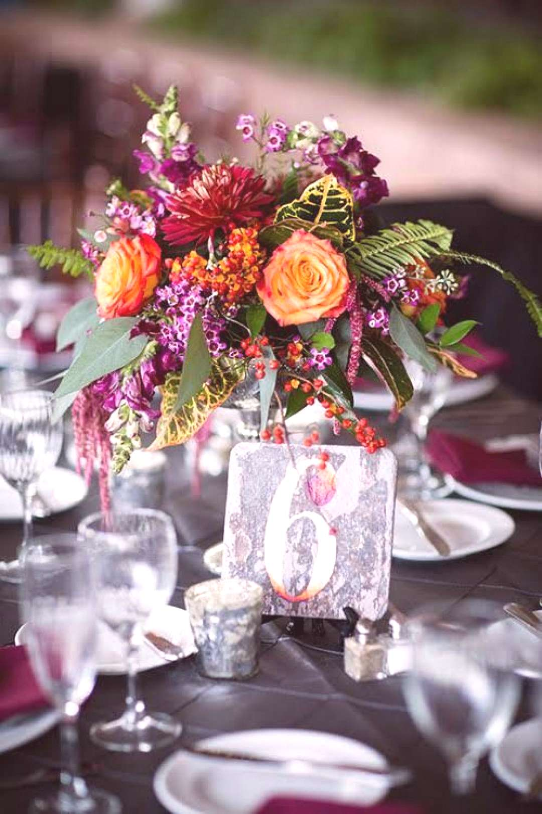 A Colorful Fall Wedding in Pennsylvania Colorful Fall fallweddingcenterpieces A Colorful Fall Weddi