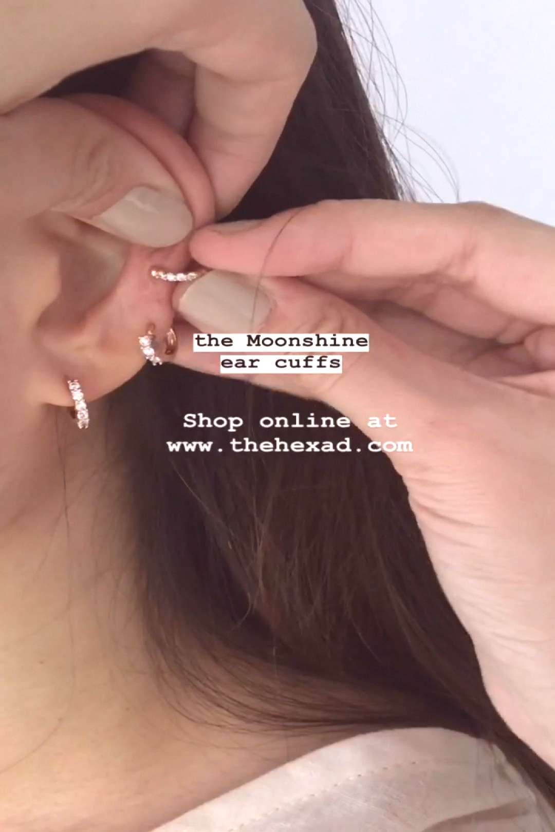 Add a touch of sparkle to your ear party with the Moonshine ear cuffs ✨no piercings needed, just
