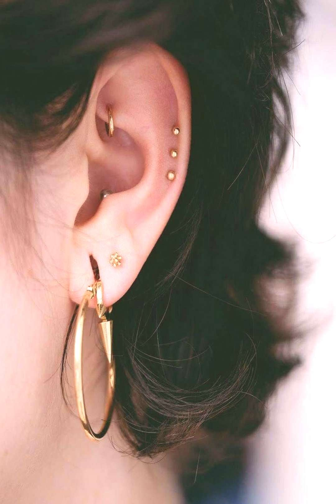 Although there are a lot of different ear piercing options, the 'rook' remains one of the most unus