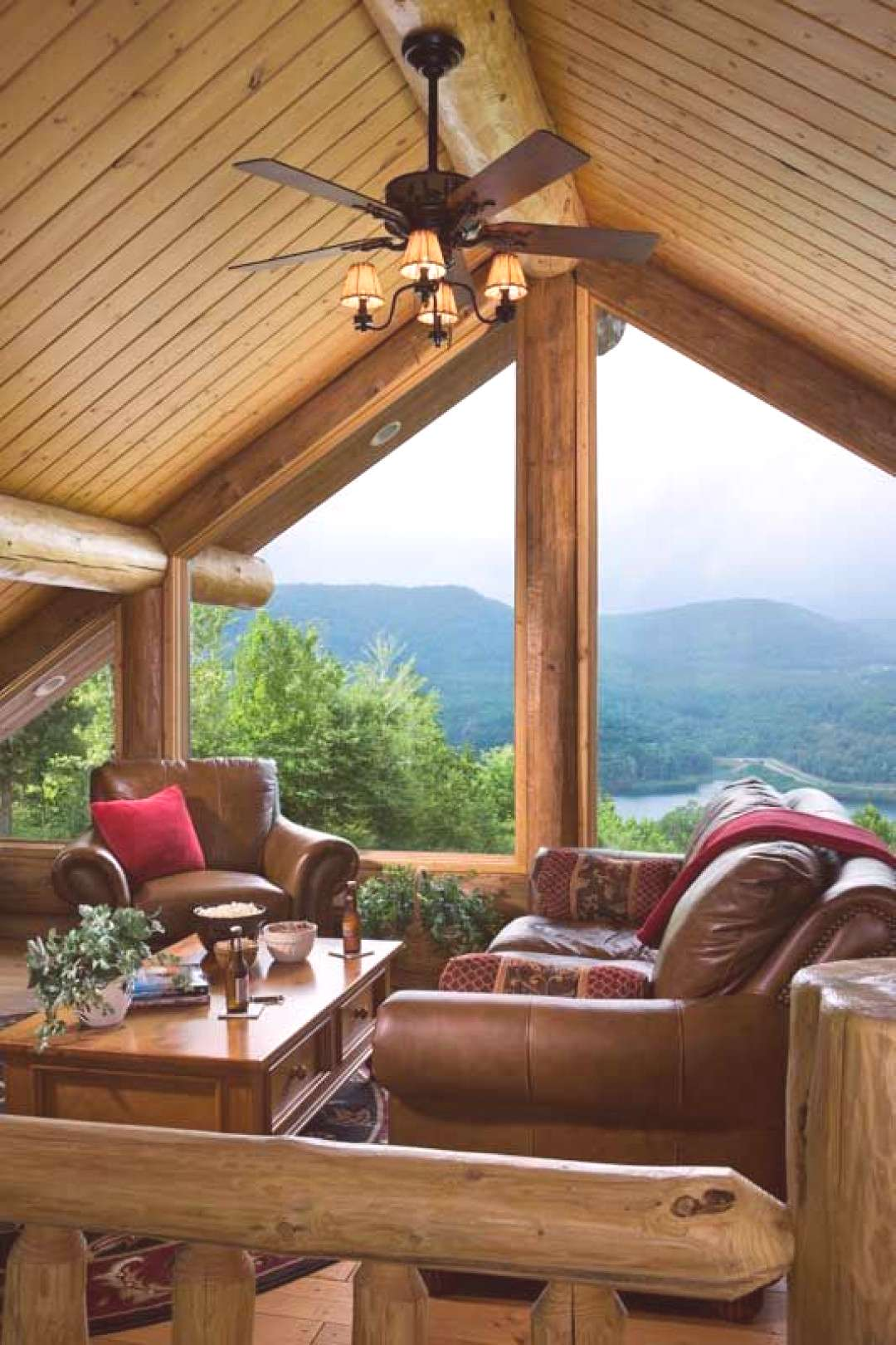 An Ill Wind Blows Much Good A Handcrafted Pennsylvania Log Home - The open loft was supposed to b