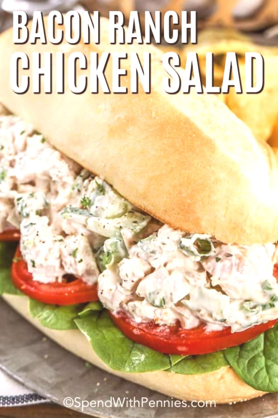 Bacon Ranch Chicken Salad - Spend With Pennies,Take your chicken salad to the next level by a... Ba