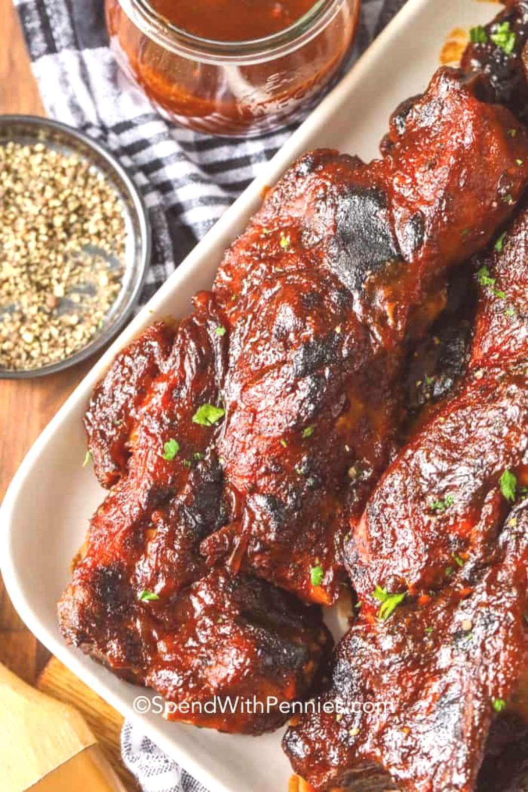 BBQ Country Style Ribs Oven Baked - Spend With Pennies - Country Style Ribs are an easy oven bak