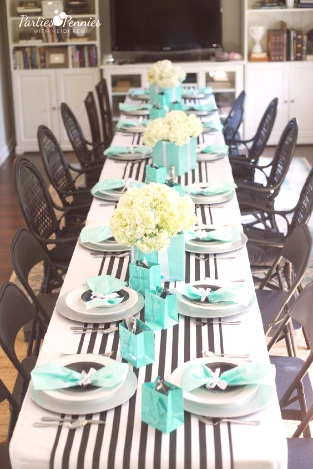 Breakfast at Tiffanys Baby Shower - Parties for Pennies#baby