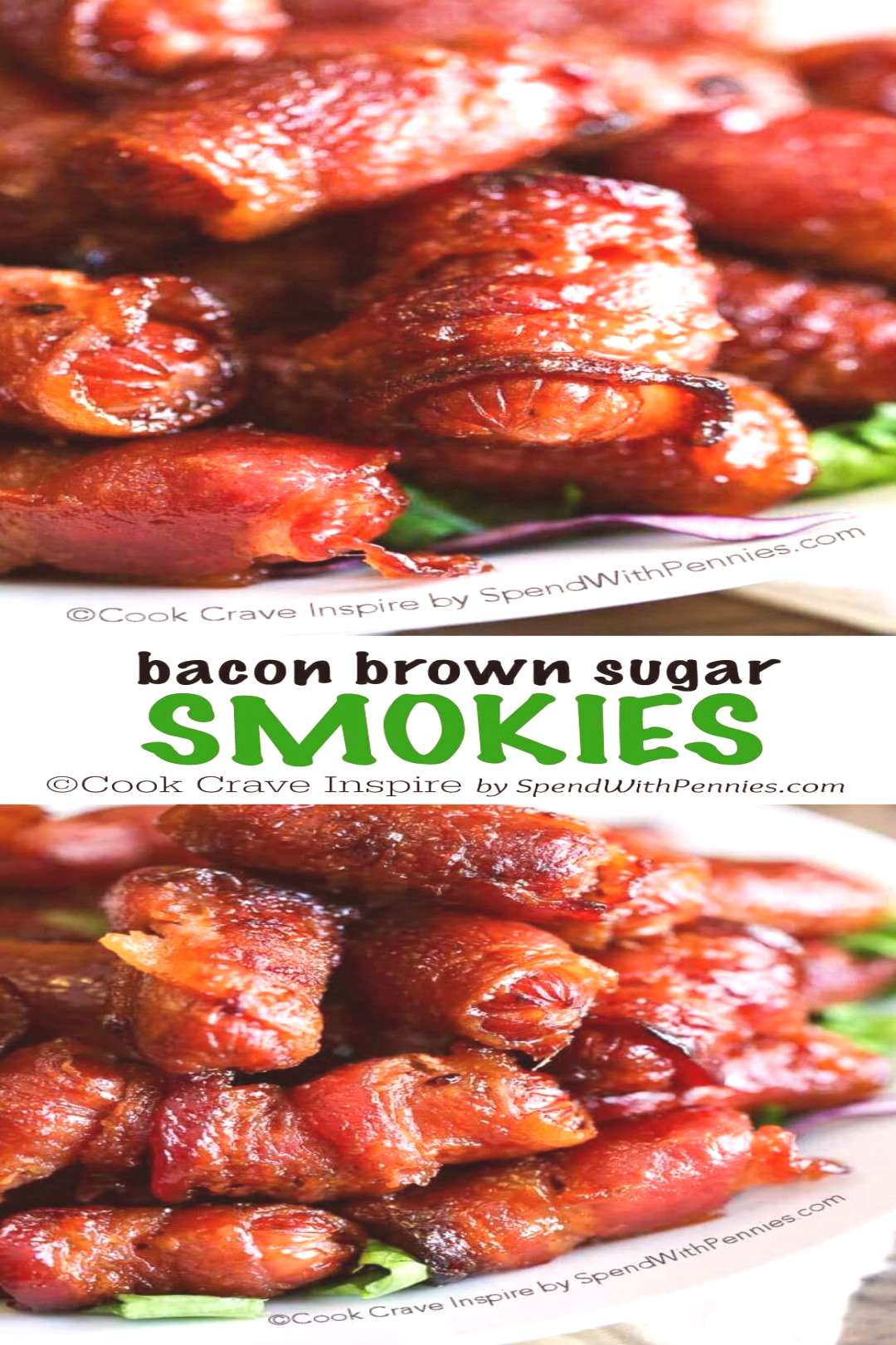 Brown Sugar Bacon Wrapped Smokies - Spend With Pennies,  Brown Sugar Bacon Wrapped Smokies - Spend