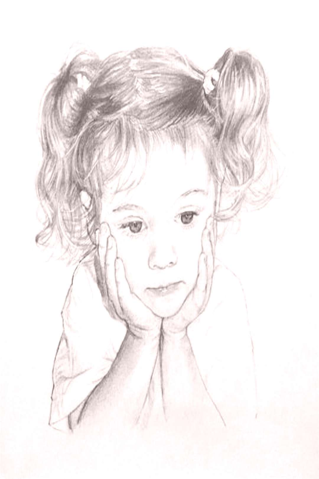 Child portrait in graphite pencil on paper. Click the picture or the read it button above to see