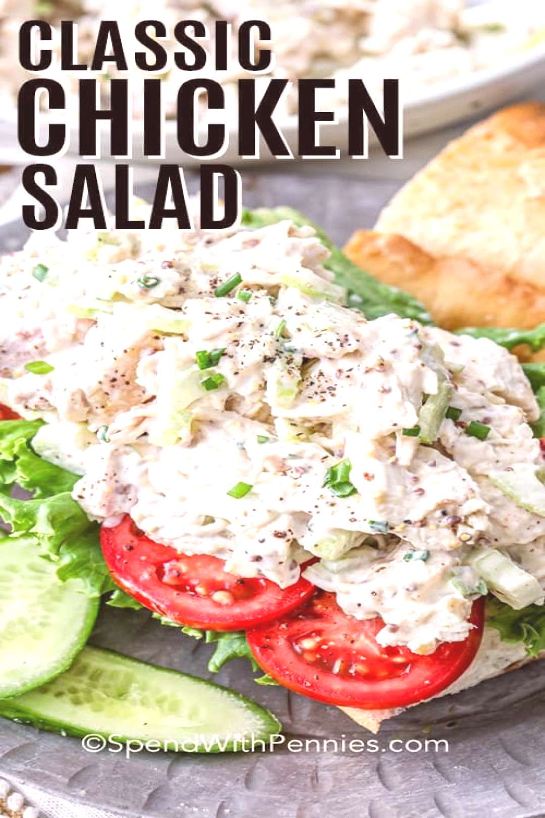 Classic Chicken Salad - Spend With Pennies,A classic chicken salad sandwich is made with chic... Cl