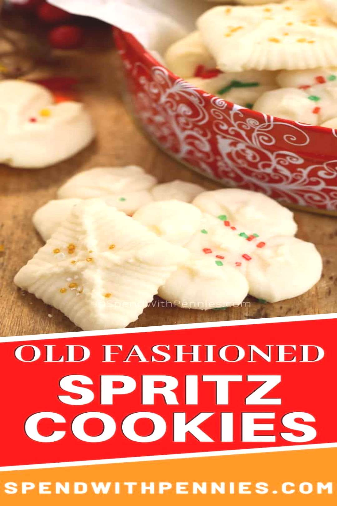 Classic Spritz Cookies {Made with a Cookie Press!} - Spend With Pennies - -