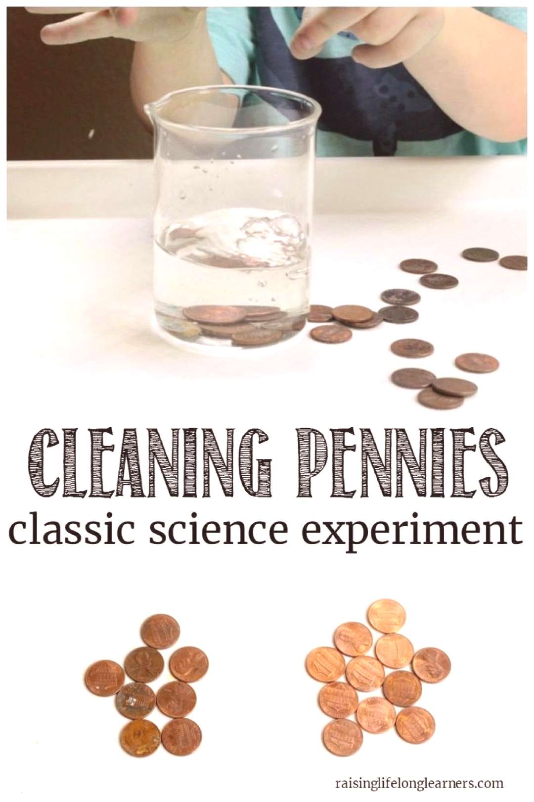 Cleaning Pennies Science Experiment for Kids#cleaning